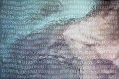 Η περίληψη θόλωσε το δυαδικό υπόβαθρο αριθμών στοκ εικόνες με δικαίωμα ελεύθερης χρήσης