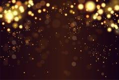 Η περίληψη ο κυκλικός χρυσός χρυσός πολυτέλειας ακτινοβολεί bokeh υπόβαθρο φω'των Μαγική ανασκόπηση 10 eps διακοπές Στοκ φωτογραφίες με δικαίωμα ελεύθερης χρήσης
