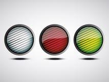 Η περίληψη υπογράφει τα κουμπιά απεικόνιση αποθεμάτων