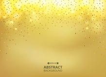 Η περίληψη χρυσού ακτινοβολεί υπόβαθρο κλίσης για ελεύθερη απεικόνιση δικαιώματος
