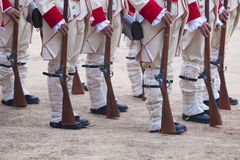 16η περίοδος της Καστίλλης συντάγματος πεζικού που ντύνεται Στοκ φωτογραφίες με δικαίωμα ελεύθερης χρήσης