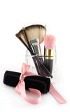η περίπτωση βουρτσών makeup έθε&sigm στοκ φωτογραφίες