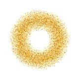 Η περίληψη, κύκλος, χρυσός, άμμος, σκόνη, ακτινοβολεί Στοκ φωτογραφία με δικαίωμα ελεύθερης χρήσης