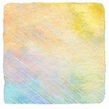 Η περίληψη σύρει το μολύβι χρώματος και το υπόβαθρο watercolor Στοκ εικόνα με δικαίωμα ελεύθερης χρήσης