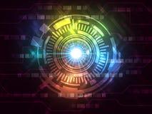 Η περίληψη το διανυσματικό γεια υπόβαθρο τεχνολογίας Διαδικτύου ταχύτητας Στοκ Εικόνα