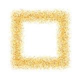 Η περίληψη, χρυσός, άμμος, σκόνη, ακτινοβολεί, πλαίσιο, τετράγωνο Στοκ εικόνες με δικαίωμα ελεύθερης χρήσης