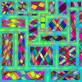 Η περίληψη χρωμάτισε το γεωμετρικό υπόβαθρο μωσαϊκών Στοκ εικόνα με δικαίωμα ελεύθερης χρήσης