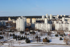 Η περιοχή η ανατολή στο Μινσκ Στοκ φωτογραφία με δικαίωμα ελεύθερης χρήσης