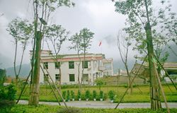 Η περιοχή σεισμού στο Γυμνάσιο Xuan Kou Στοκ φωτογραφίες με δικαίωμα ελεύθερης χρήσης