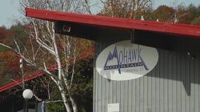 Η περιοχή σκι βουνών Mohawk κατοικεί (2 3) απόθεμα βίντεο