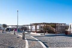 Η περιοχή στρατοπέδευσης σε Jebel υποκρίνεται το Ομάν Στοκ φωτογραφία με δικαίωμα ελεύθερης χρήσης