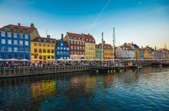Η περιοχή Nyhavn είναι ένα από τα διασημότερα ορόσημα σε Copenhage Στοκ φωτογραφίες με δικαίωμα ελεύθερης χρήσης