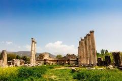 Η περιοχή Tetrastoon στην αρχαία πόλη Aphrodisias στην Τουρκία Στοκ φωτογραφία με δικαίωμα ελεύθερης χρήσης