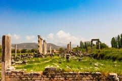 Η περιοχή Tetrastoon στην αρχαία πόλη Aphrodisias στην Τουρκία Στοκ Εικόνα