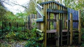 Η περιπέτεια πάρκων φύσης φυτεύει πράσινο με θάμνους στοκ εικόνες