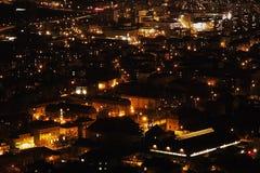 Η περισσότερη πόλη στη νύχτα Στοκ Εικόνες
