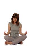 η περιστασιακή κυρία κάθι& Στοκ φωτογραφία με δικαίωμα ελεύθερης χρήσης