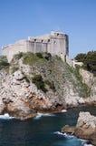 Η περιτοιχισμένη πόλη Dubrovnic στην Κροατία Ευρώπη Το Dubrovnik παρονομάζεται το μαργαριτάρι ` της Αδριατικής Στοκ εικόνες με δικαίωμα ελεύθερης χρήσης