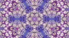 Η περιτυλιγμένη ζωτικότητα της τρισδιάστατης γεωμετρίας, οι γεωμετρικές μορφές και οι μορφές μετασχηματίζονται Πορφυρή σύνθεση στ απεικόνιση αποθεμάτων