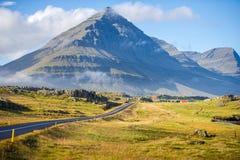 η περιφερειακή οδός στην Ισλανδία Στοκ Φωτογραφία