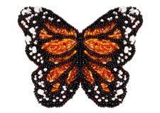 η πεταλούδα χαντρών απομόν&omeg στοκ εικόνα
