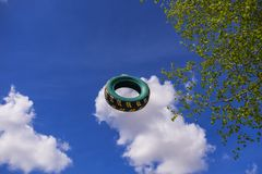 Η πετώντας ρόδα αυτοκινήτων Στοκ εικόνες με δικαίωμα ελεύθερης χρήσης