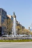 Η πηγή, Βαρκελώνη Στοκ Φωτογραφίες
