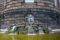 Η πηγή και τα υδάτινα έργα στην πόλη Δρέσδη, Γερμανία Στοκ εικόνα με δικαίωμα ελεύθερης χρήσης