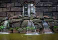 Η πηγή και τα υδάτινα έργα στην πόλη Δρέσδη, Γερμανία Στοκ Εικόνες