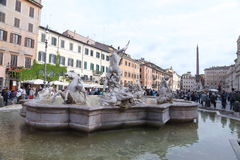 Η πηγή Ποσειδώνα είναι μια πηγή στη Ρώμη Στοκ φωτογραφία με δικαίωμα ελεύθερης χρήσης