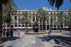 Placa Reial Βαρκελώνη Ισπανία Στοκ εικόνα με δικαίωμα ελεύθερης χρήσης