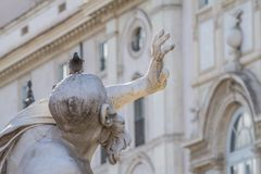 Η πηγή του αγάλματος τεσσάρων ποταμών του Ρίο de Λα Plata στη Ρώμη, Ιταλία Στοκ Φωτογραφία