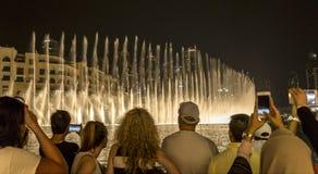 Η πηγή του Ντουμπάι παρουσιάζει Στοκ Εικόνες