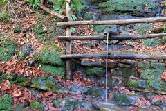 Η πηγή φυσικού νερού Στοκ Εικόνες