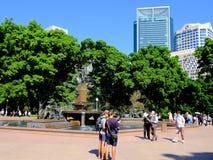 Η πηγή Archibald, Χάιντ Παρκ, Σίδνεϊ, Αυστραλία Στοκ φωτογραφίες με δικαίωμα ελεύθερης χρήσης
