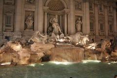 Η πηγή TREVI (ιταλικά: Fontana Di TREVI) Στοκ φωτογραφία με δικαίωμα ελεύθερης χρήσης