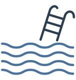Η πισίνα απομόνωσε το διανυσματικό εικονίδιο που μπορεί να είναι εκδίδει εύκολα ή τροποποίησε απεικόνιση αποθεμάτων