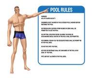 Η πισίνα κυβερνά την απεικόνιση Στοκ Εικόνα