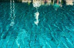 Η πισίνα, χαλαρώνει, ηρεμία, διαφάνεια, υπόβαθρο Στοκ Εικόνες