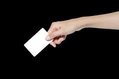 Η πιστωτική κάρτα με το χέρι Στοκ εικόνες με δικαίωμα ελεύθερης χρήσης