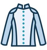 Η πλήρης μπλούζα φερμουάρ απομόνωσε το διανυσματικό εικονίδιο που μπορεί να τροποποιηθεί εύκολα ή να εκδώσει διανυσματική απεικόνιση