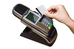Η πλαστική κάρτα πληρώνει Στοκ Εικόνα