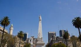 Η πλατεία Μαΐου και μπορεί πυραμίδα, Μπουένος Άιρες, Αργεντινή Στοκ Φωτογραφία
