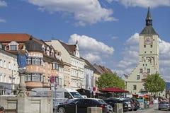 Η πλατεία της πόλης Deggendorf Στοκ εικόνες με δικαίωμα ελεύθερης χρήσης