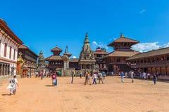 Η πλατεία Durbar Bhaktapur είναι το plaza μπροστά από το βασιλικό palac στοκ φωτογραφία με δικαίωμα ελεύθερης χρήσης