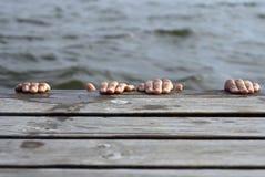 η πλατφόρμα κολυμπά Στοκ Εικόνα