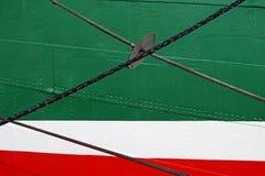Η πλευρά σκαφών ` s, κλείνει επάνω, αφηρημένη λεπτομέρεια στοκ φωτογραφία με δικαίωμα ελεύθερης χρήσης