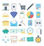 Η πληρωμή και η χρηματοδότηση που απομονώνονται και τα διανυσματικά εικονίδια καθορισμένα αποτελούνται με τις τραπεζικές εργασίες διανυσματική απεικόνιση