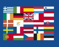 Η ποικιλία των ευρωπαϊκών σημαιών, κλείνει επάνω Στοκ εικόνες με δικαίωμα ελεύθερης χρήσης