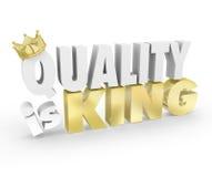 Η ποιότητα είναι καλύτερο προϊόν τοπ προτεραιότητας αξίας λέξεων βασιλιάδων Στοκ Εικόνα